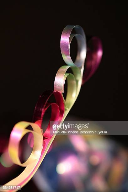 Close-Up Of Curled Ribbons