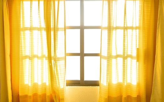 Close-Up Of Curtains At Home - gettyimageskorea