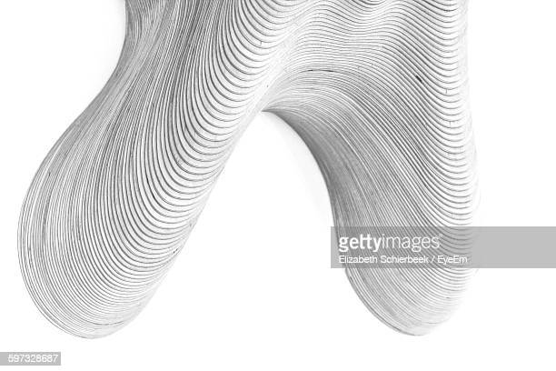 Close-Up Of Curves Drawn On Paper