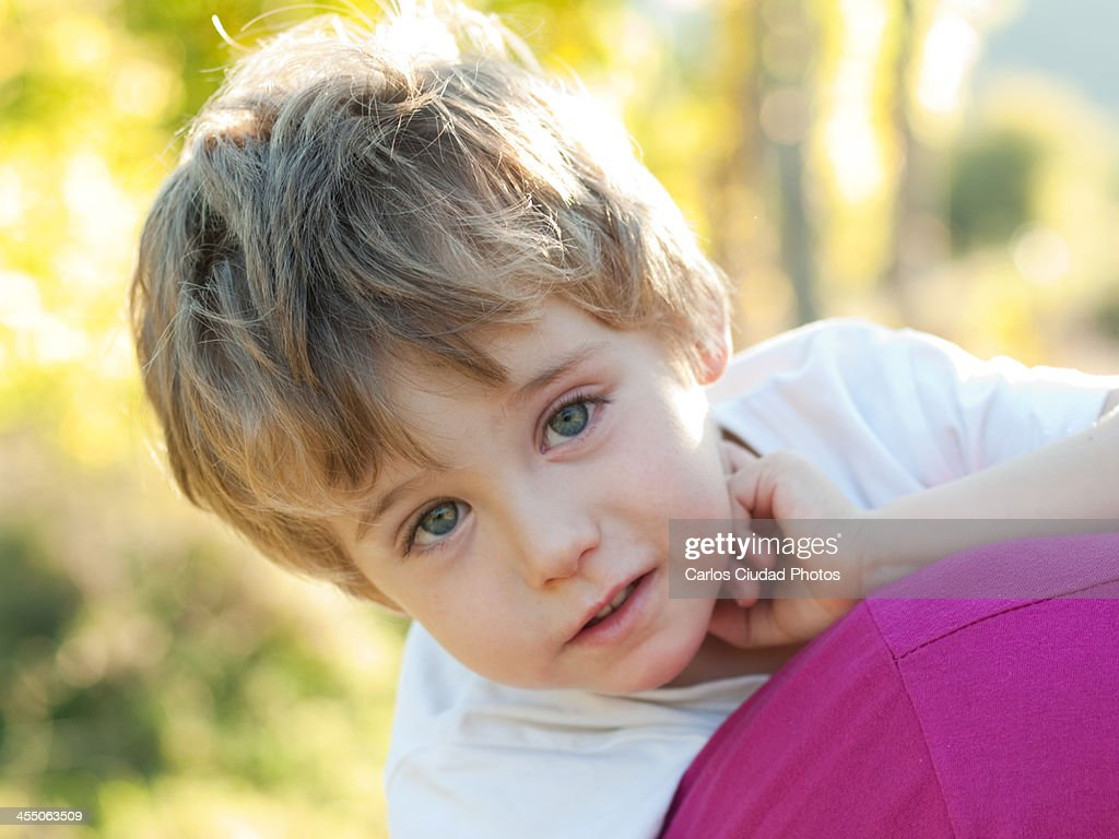 Closeup Of Cute Child With Blue Eyes Stock Photo Getty Images