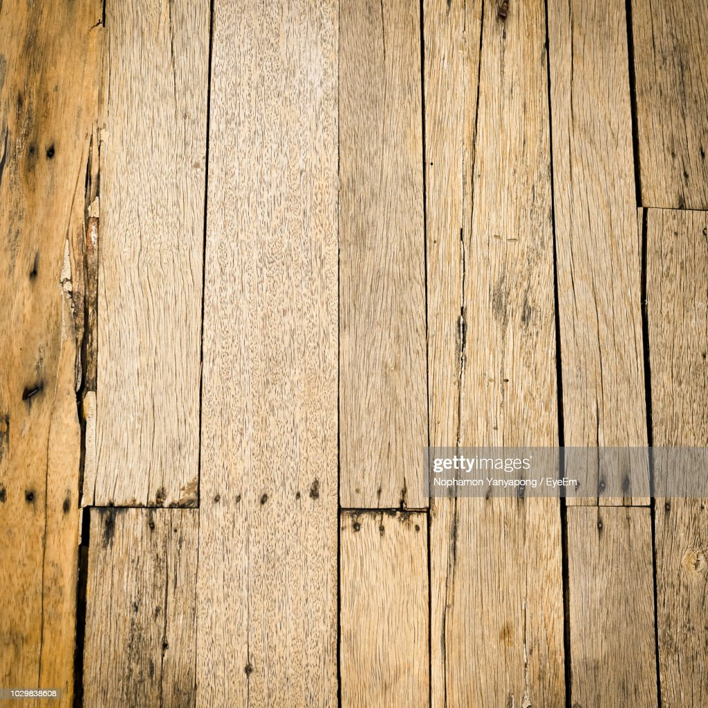 Close-Up Of Damaged Floorboard : Stock Photo