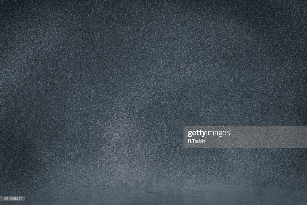 Closeup of dark black grunge textured background : Stock Photo