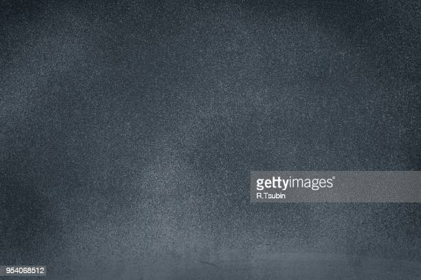 Closeup of dark black grunge textured background