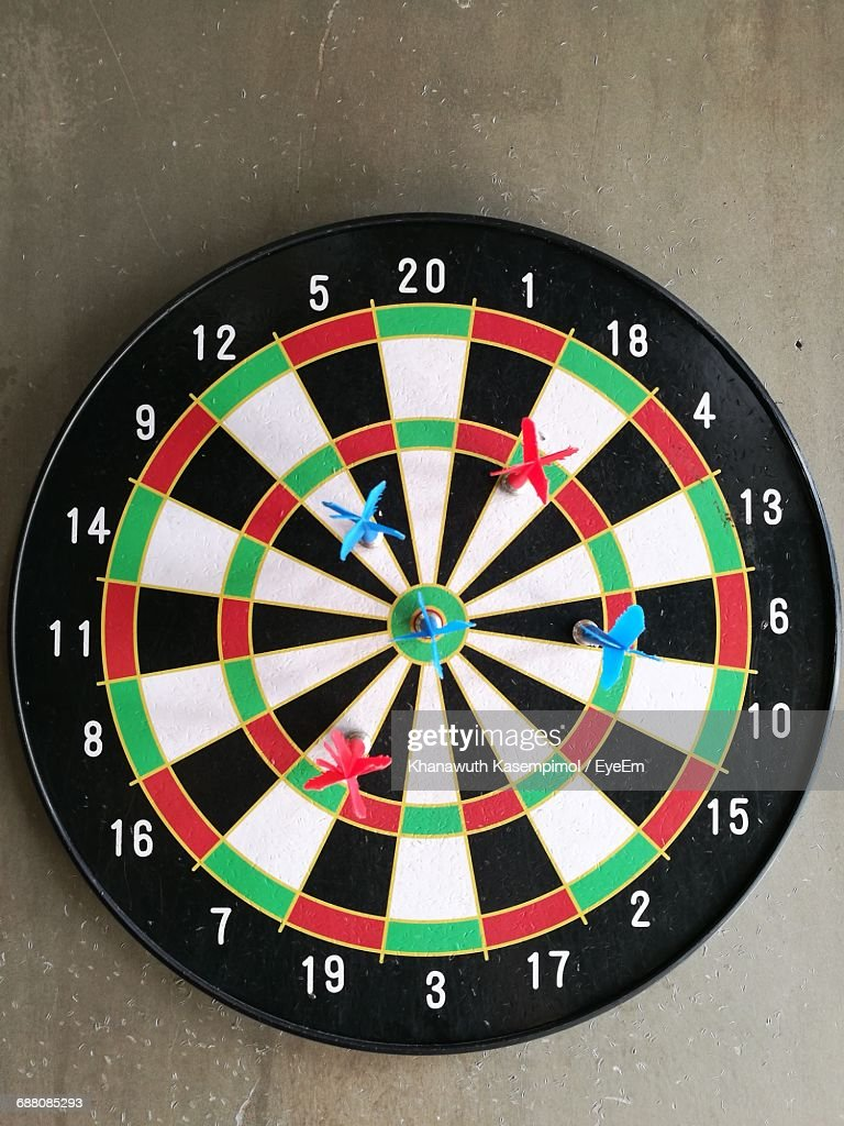 photo relating to Printable Dart Board called Dartboard Top quality Visuals, Visuals, Visuals - Getty Visuals