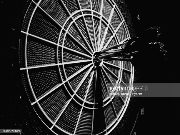 close-up of darts on board - sports target stock pictures, royalty-free photos & images