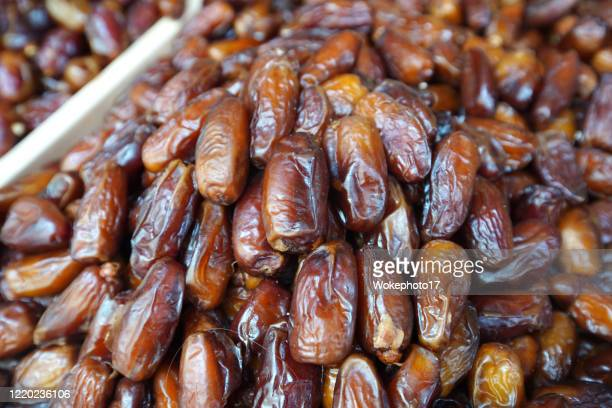 close-up of dates fruit - raw food diet stock pictures, royalty-free photos & images