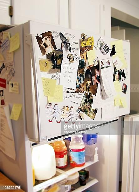 Close-up of decorated refrigerator
