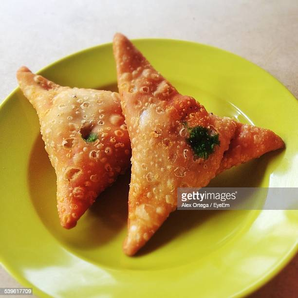 Close-Up Of Deep Fried Snacks On Plate