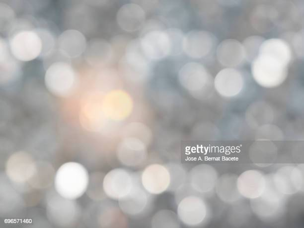 Close-Up Of Defocused Light in the shape of circles