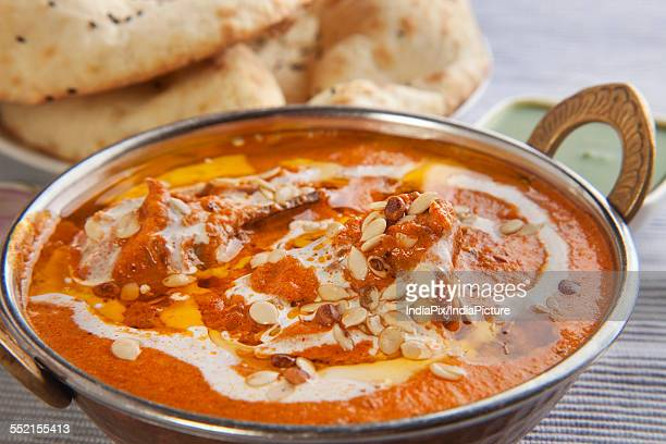 Close-up of delicious chicken curry
