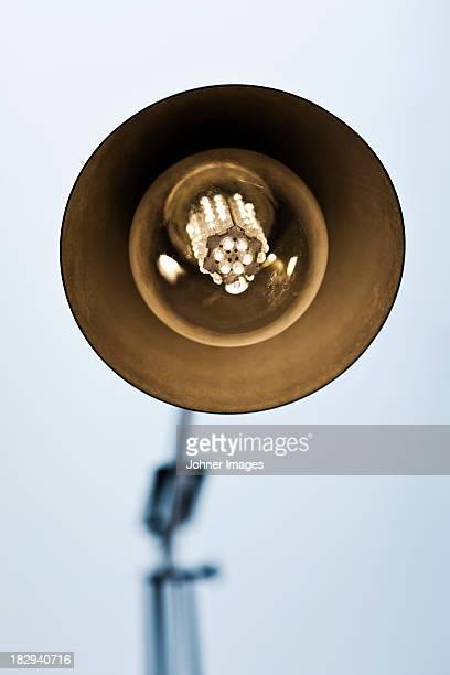 Close-up of desk lamp