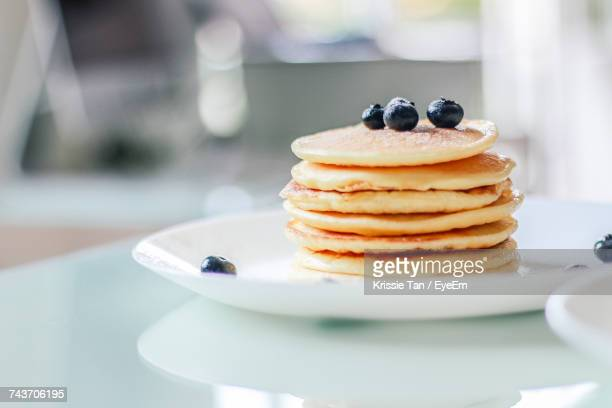 close-up of dessert in plate - pancake stock pictures, royalty-free photos & images