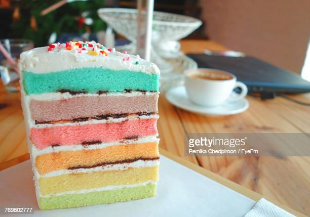 close-up of dessert on table - sponge cake stock pictures, royalty-free photos & images