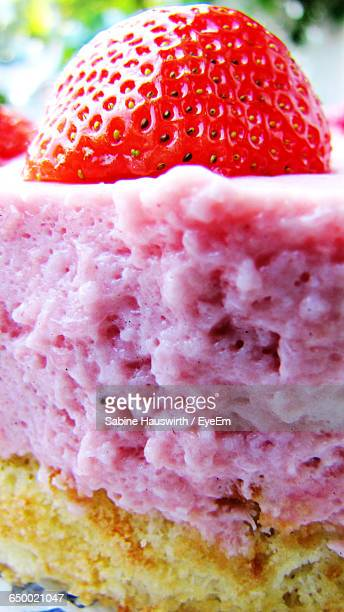 Close-Up Of Dessert With Strawberry