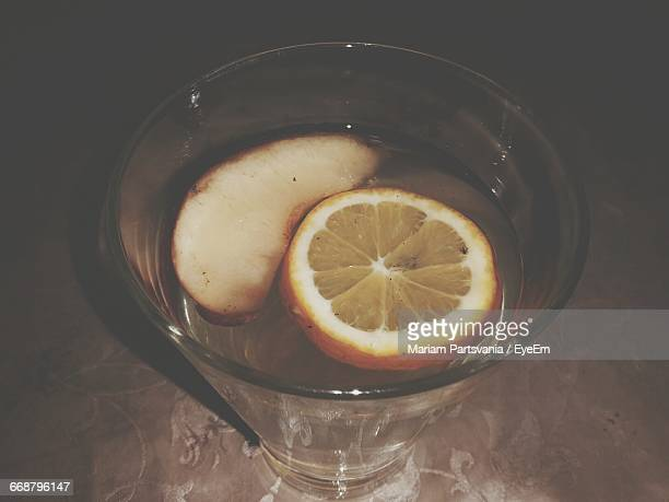 Close-Up Of Detox Water On Table