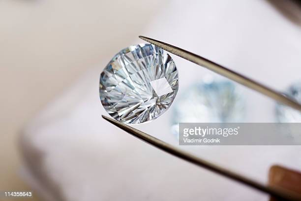 close-up of diamond
