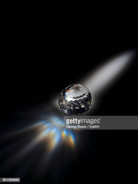 Close-Up Of Diamond With Reflection