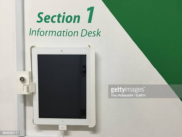Close-Up Of Digital Tablet On Wall