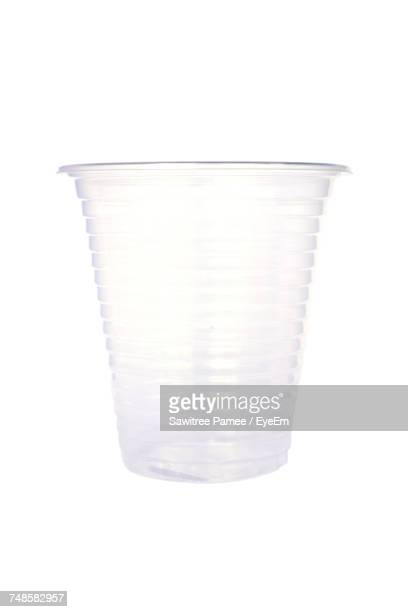close-up of disposable cup on white background - disposable cup stock pictures, royalty-free photos & images