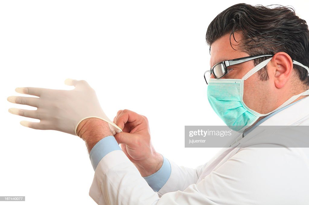 Close-up of doctor preparing for surgery : Stock Photo