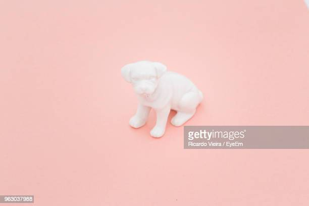 close-up of dog toy on colored background - toy animal stock photos and pictures