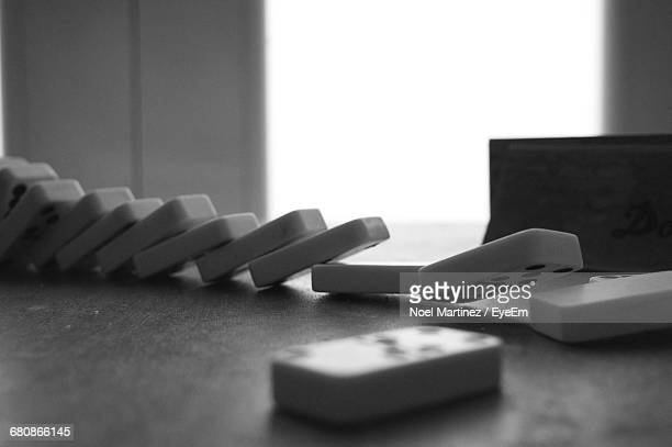 Close-up Of Dominos On Table