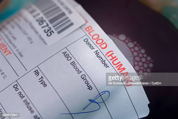 Close-Up Of Donated Blood In Bag
