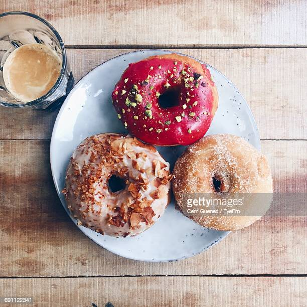 Close-Up Of Donuts In Plate