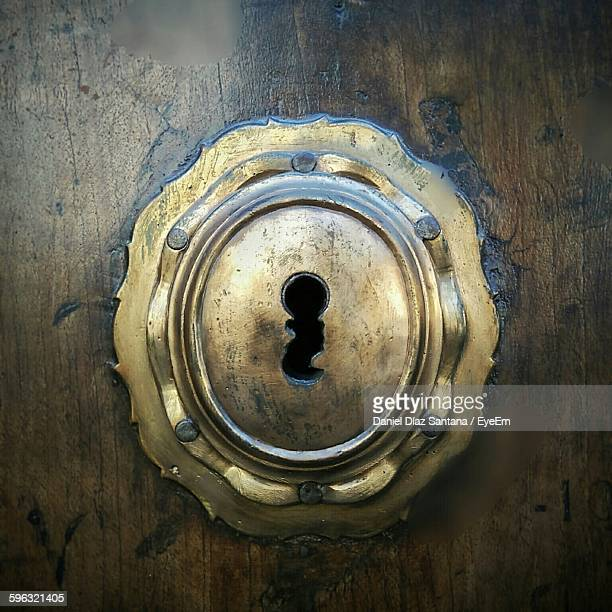 Close-Up Of Door Keyhole