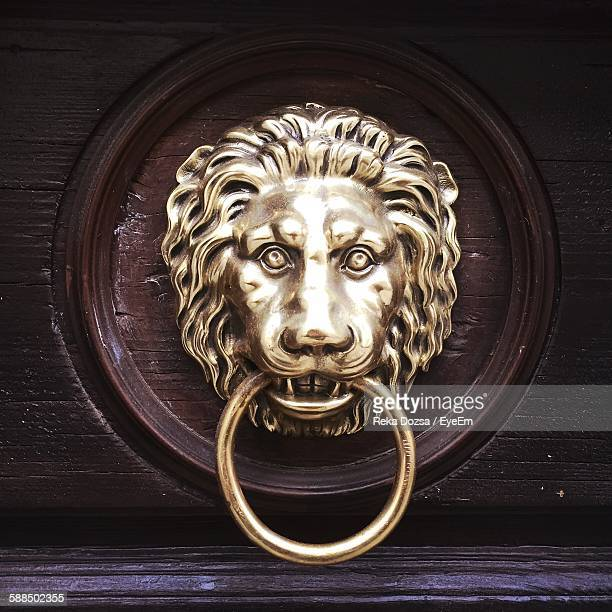 close-up of door knocker - door knocker stock photos and pictures