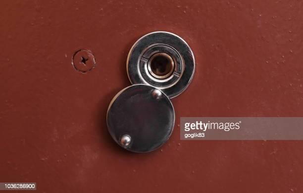 Close-Up Of Door Peephole