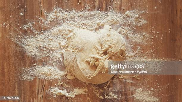 close-up of dough on table - dough stock pictures, royalty-free photos & images