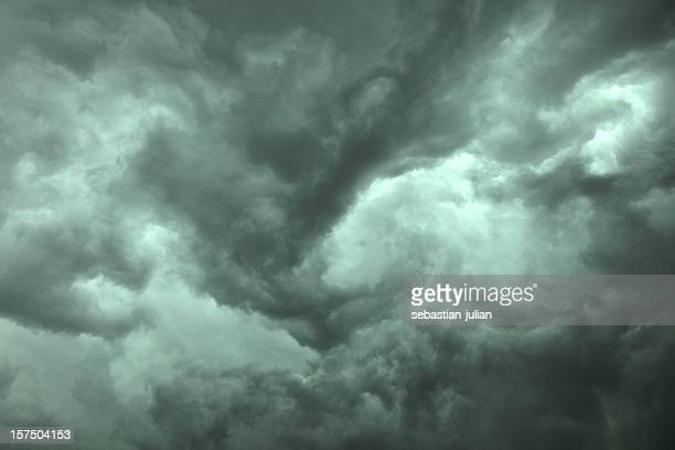 close-up of dramatic dark storm clouds - sebastian grey stock pictures, royalty-free photos & images