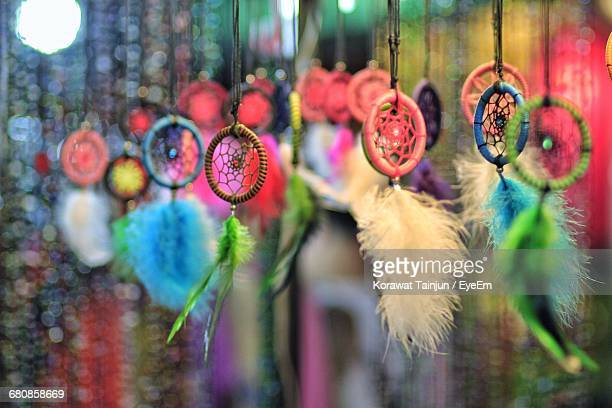 close-up of dreamcatcher - dreamcatcher stock pictures, royalty-free photos & images