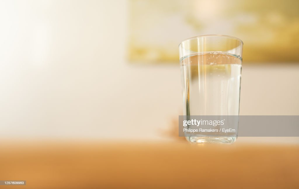 Close-Up Of Drink In Glass On Table : Stock Photo