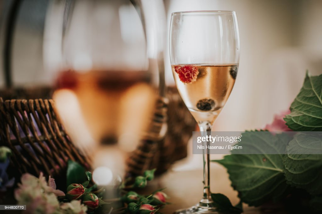 Close-Up Of Drink In Glass : Stock Photo