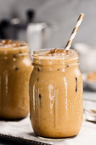 Close-Up Of Drink In Jar On Table - gettyimageskorea