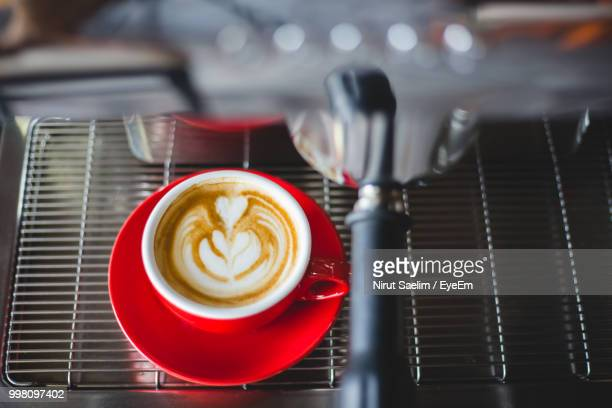 Close-Up Of Drink On Coffee Maker