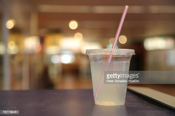 close-up of drink on table - disposable cup stock pictures, royalty-free photos & images
