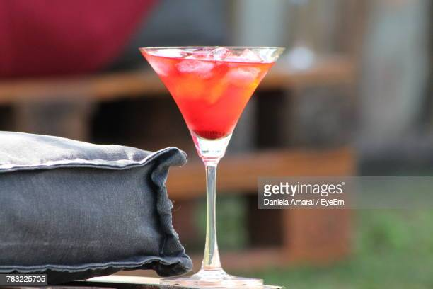 close-up of drink on table - martini glass stock photos and pictures