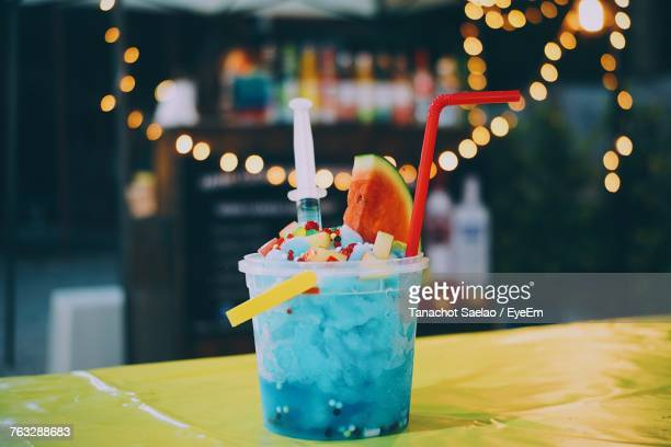 close-up of drink on table - prachuap khiri khan province stock pictures, royalty-free photos & images
