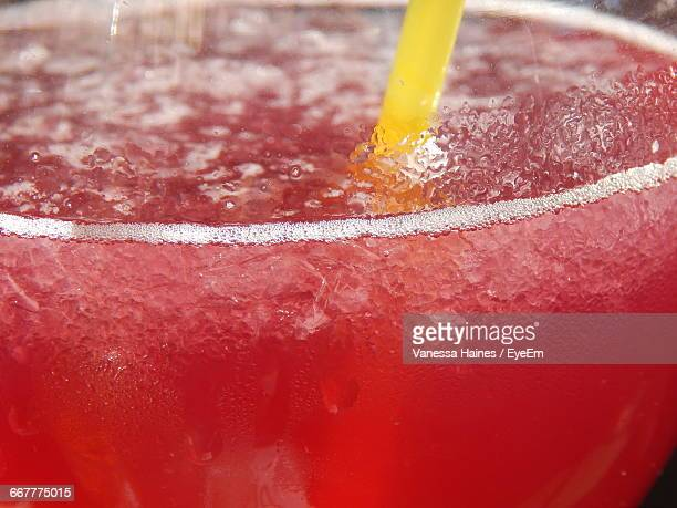 close-up of drink with straw in glass - crushed ice stock pictures, royalty-free photos & images