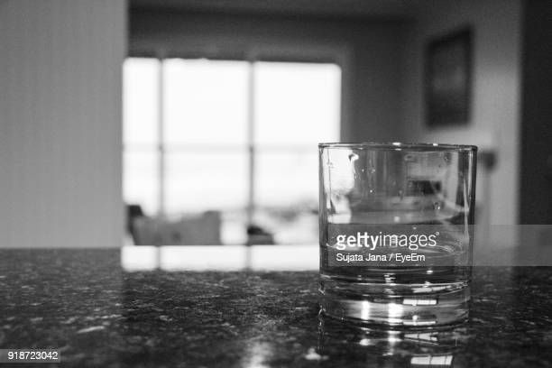 Close-Up Of Drinking Glass On Table