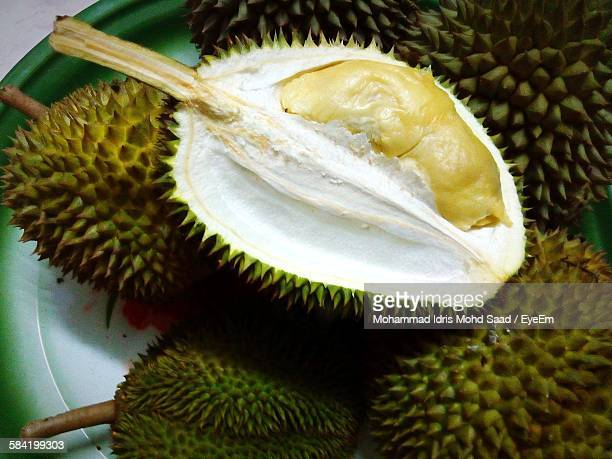 Close-Up Of Durian Fruits
