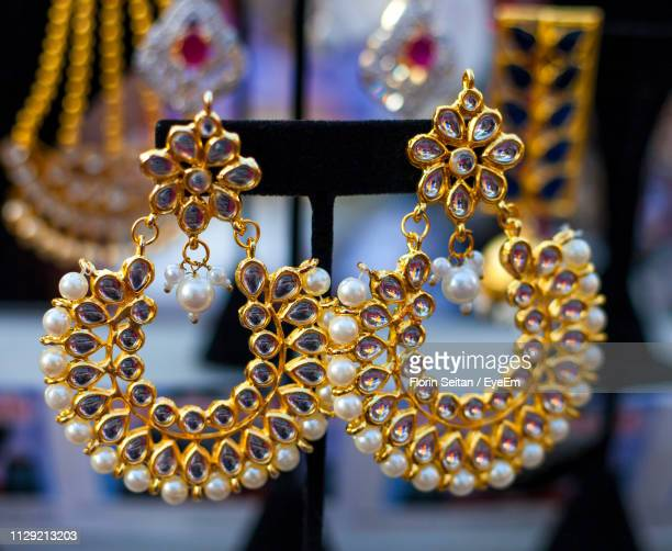 close-up of earrings - florin seitan stock pictures, royalty-free photos & images