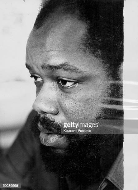 Closeup of East Nigerian Governor Lieutenant Colonel Odumegwu Ojukwu circa 1966