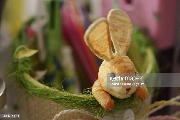 Close-Up Of Easter Bunny In Basket