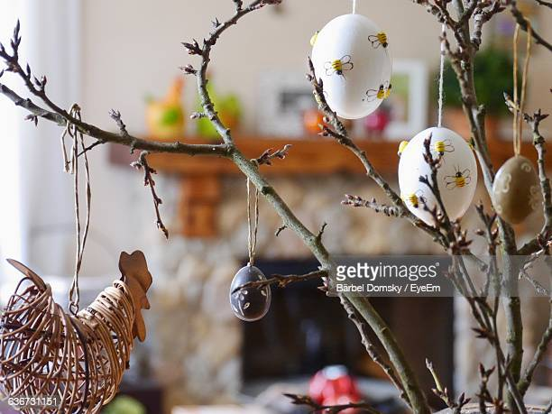 Close-Up Of Easter Decoration At Home