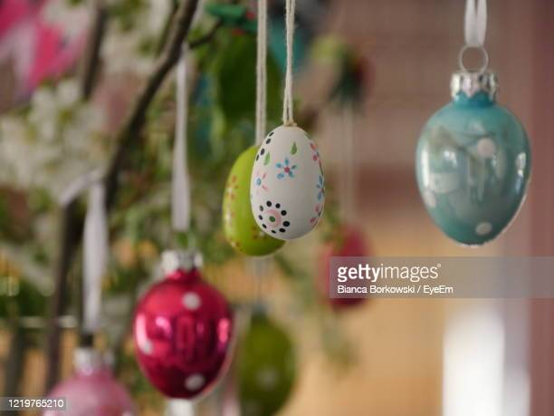 close-up of easter decoration - easter sunday stock pictures, royalty-free photos & images