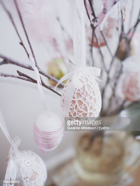 Close-Up Of Easter Eggs Decoration